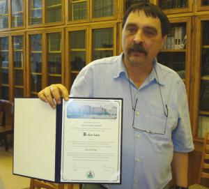Dr. Gorcs as Semmelweis private professor (2010).
