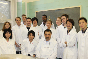 Dr. Gorcs with one of his English student groups (2012).