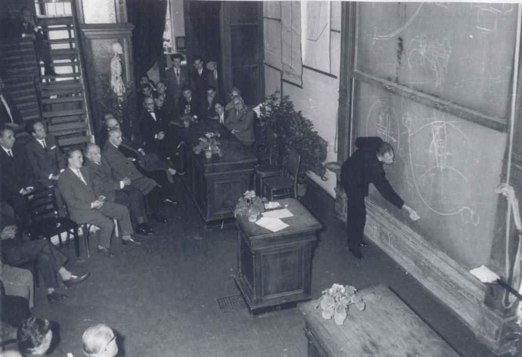 Vorlesung von Prof. Szentágothai (aus der Sammlung von Dr. Somogyi)