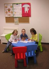 Children in the Department of Pedodontics and Orthodontics's waiting room