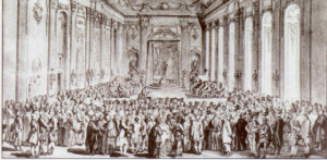 Ceremonial opening of the University in Buda, 1780