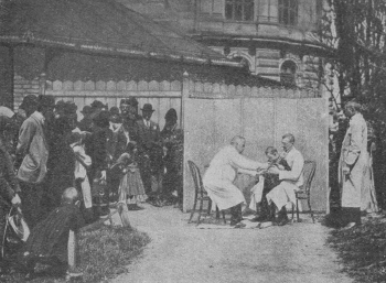 Administering rabies vaccines, 1903