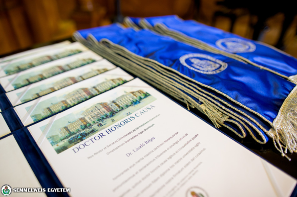 Six professors received the Doctor Honoris Causa Award of Semmelweis University