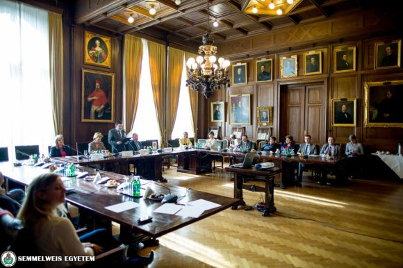 The plenary session of the Committee on International Affairs of the Hungarian Rector's Conference was held at Semmelweis University