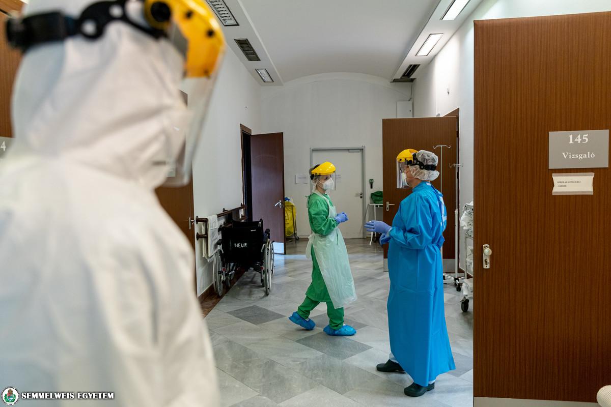 COVID care at the Department of Neurology, April 2021, Photos: Attila Kovács, Semmelweis University
