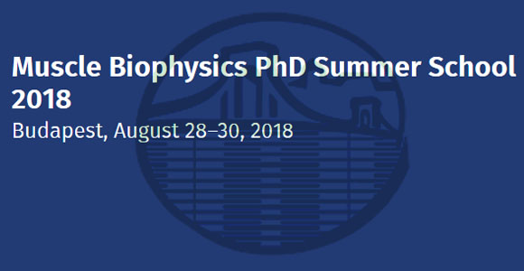 Muscle Biophysics PhD Summer School 2018