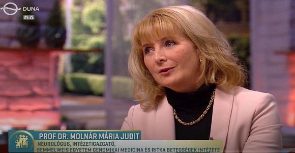 Molnár Mária Judit a Család-Barátban a Charcot-Maria-Tooth betegségről