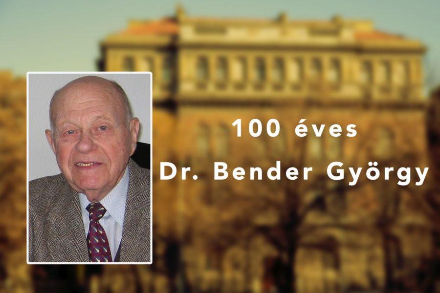 Százéves születésnapját ünnepli dr. Bender György professzor emeritus