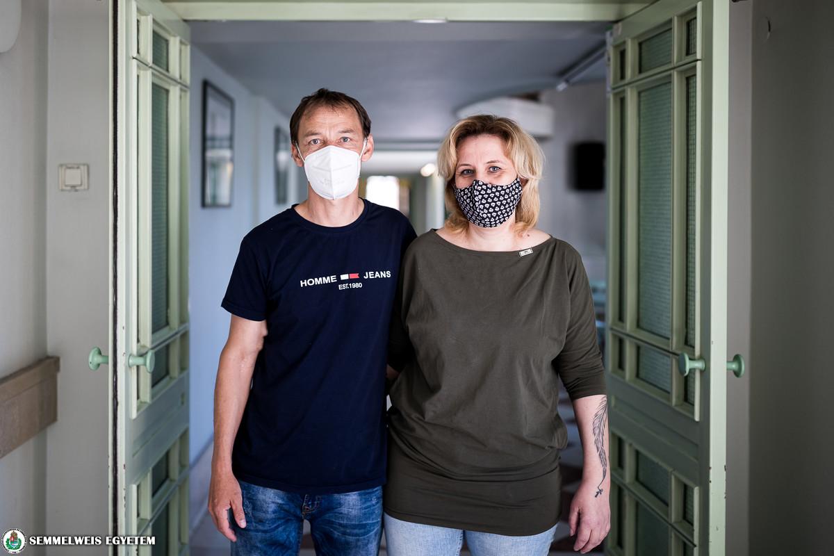 Az 500. élődonoros veseátültetett és a szervet adományozó élettársa