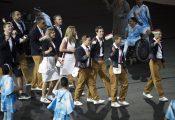 Rio de Janeiro, 2016. szeptember 8. A magyar csapat bevonulása a XV. paralimpia megnyitóünnepségén a Rio de Janeiró-i Maracana Stadionban 2016. szeptember 7-én. MTI Fotó: Koszticsák Szilárd