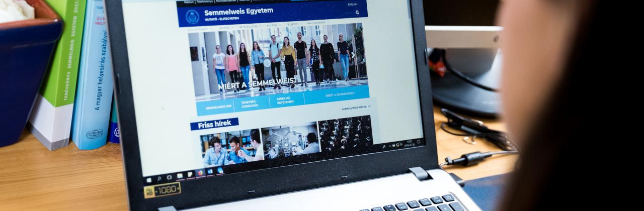 A Semmelweis Egyetem honlaprendszere
