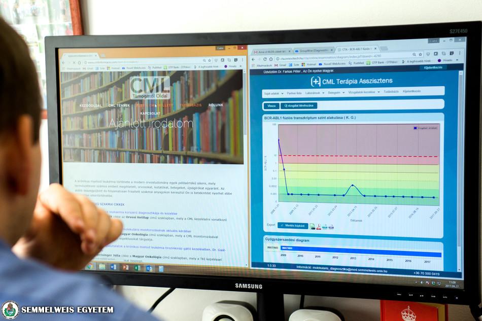 CML támogató oldal a Molekuláris Onkohematológia Kutatócsoport gondozásában