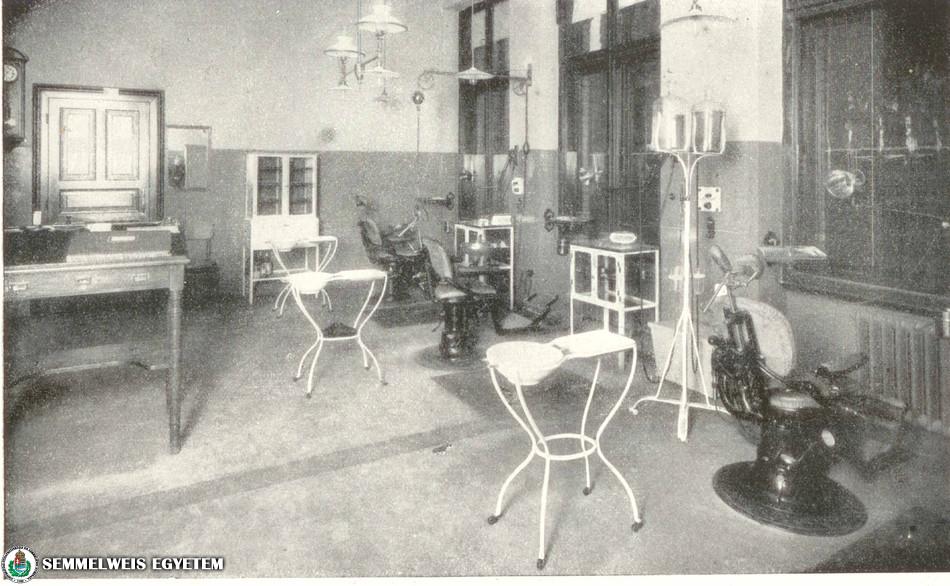 Stomatológiai Klinika - kezelő 1909-ben