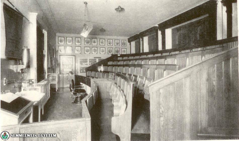 Stomatológiai Klinika előadóterme 1909-ben