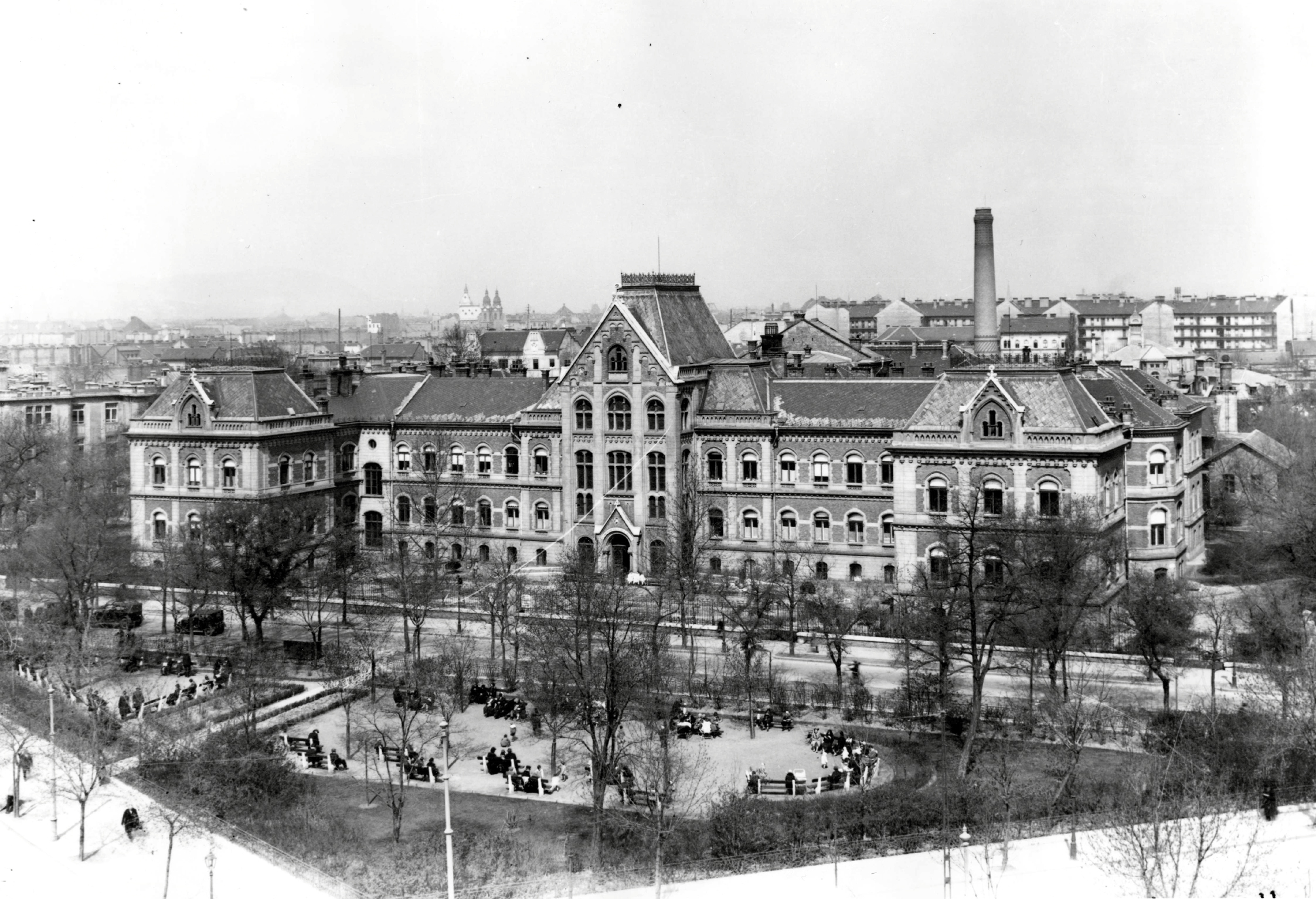 II. Sz. Szülészeti és Nőgyógyászati Klinika egykori épülete az 1930-as években