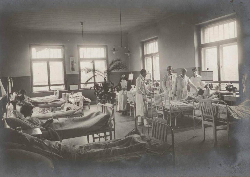 III. Sz. Belgyógyászati Klinika kórterme 1922-ben