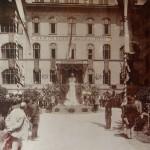 Mihálkovics Géza szobrának avatása 1901 júliusában